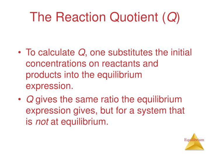 The Reaction Quotient (