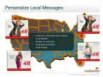 personalize local messages