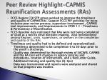peer review highlight capmis reunification assessments ras