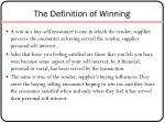 the definition of winning