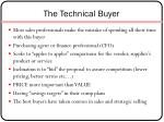 the technical buyer