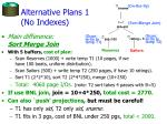 alternative plans 1 no indexes