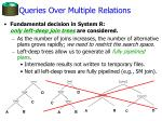 queries over multiple relations