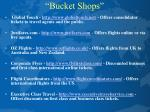 bucket shops