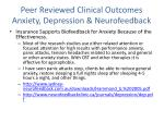 peer reviewed clinical outcomes anxiety depression neurofeedback