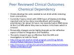 peer reviewed clinical outcomes chemical dependency1