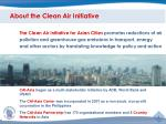 about the clean air initiative