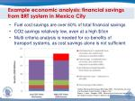 example economic analysis financial savings from brt system in mexico city