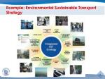 example environmental sustainable transport strategy