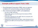 example political support pune india