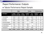 report performance outputs1