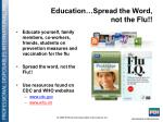 education spread the word not the flu