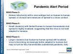pandemic alert period