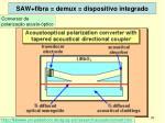 saw fibra demux dispositivo integrado