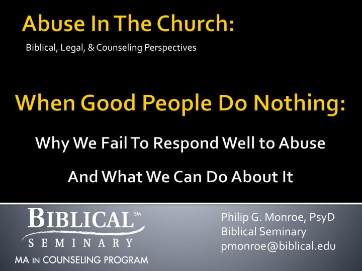 biblical legal counseling perspectives n.