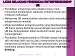 latar belakang pendidikan entrepreneurship ub
