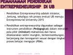 pemahaman pendidikan entrepreneurship di ub