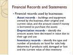financial records and statements2