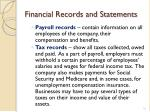 financial records and statements4