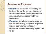 revenue vs expenses