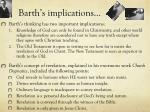 barth s implications