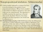 non propositional revelation schleiermacher