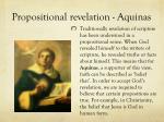 propositional revelation aquinas