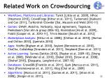 related work on crowdsourcing