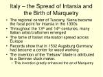 italy the spread of intarsia and the birth of marquetry