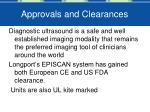 approvals and clearances