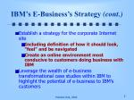 ibm s e business s strategy cont