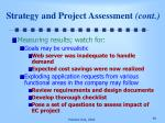 strategy and project assessment cont