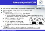 partnership with egee