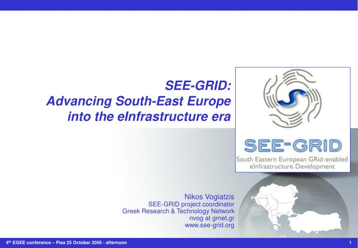 see grid advancing south east europe into the einfrastructure era n.