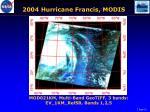 2004 hurricane francis modis