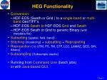 heg functionality