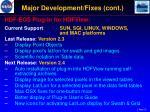 major development fixes cont