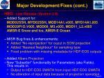 major development fixes cont1