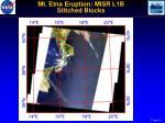 mt etna eruption misr l1b stitched blocks
