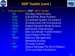 sdp toolkit cont