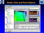 swath grid and point objects