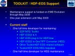 toolkit hdf eos support