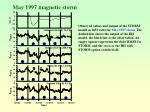 may 1997 magnetic storm