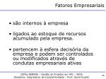 fatores empresariais