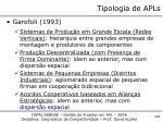 tipologia de apls2