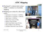 atic shipping