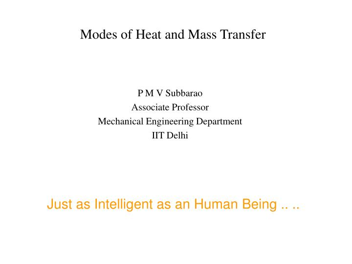 modes of heat and mass transfer n.