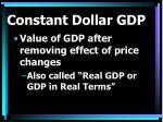 constant dollar gdp