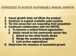 strategies to achieve sustainable annual growth