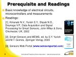 prerequisite and readings